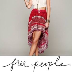 Intimately FP • Boarder Print High Low Skirt